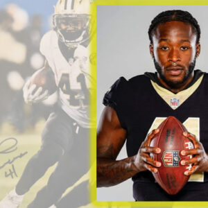 Alvin Kamara with Football for Carolina